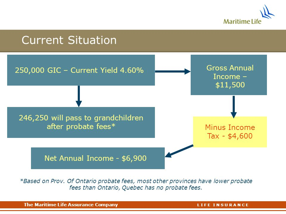Current Situation Gross Annual Income – $11,500