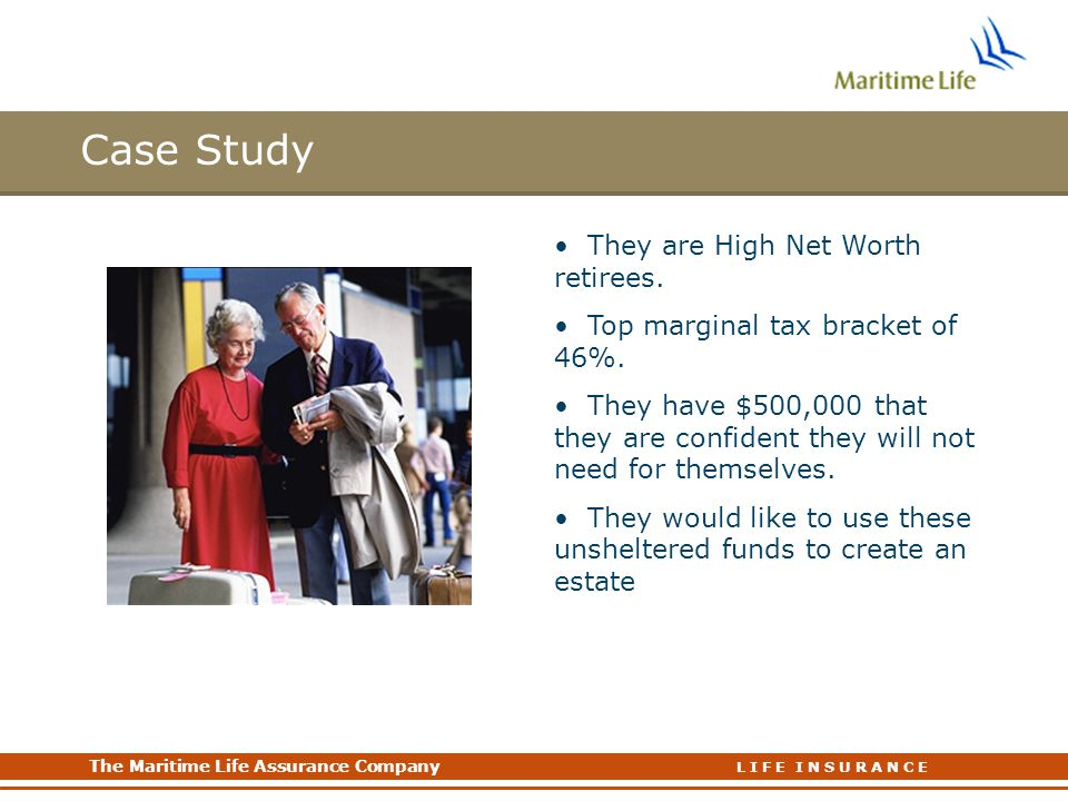 Case Study Bob and Joan Hill They are High Net Worth retirees.