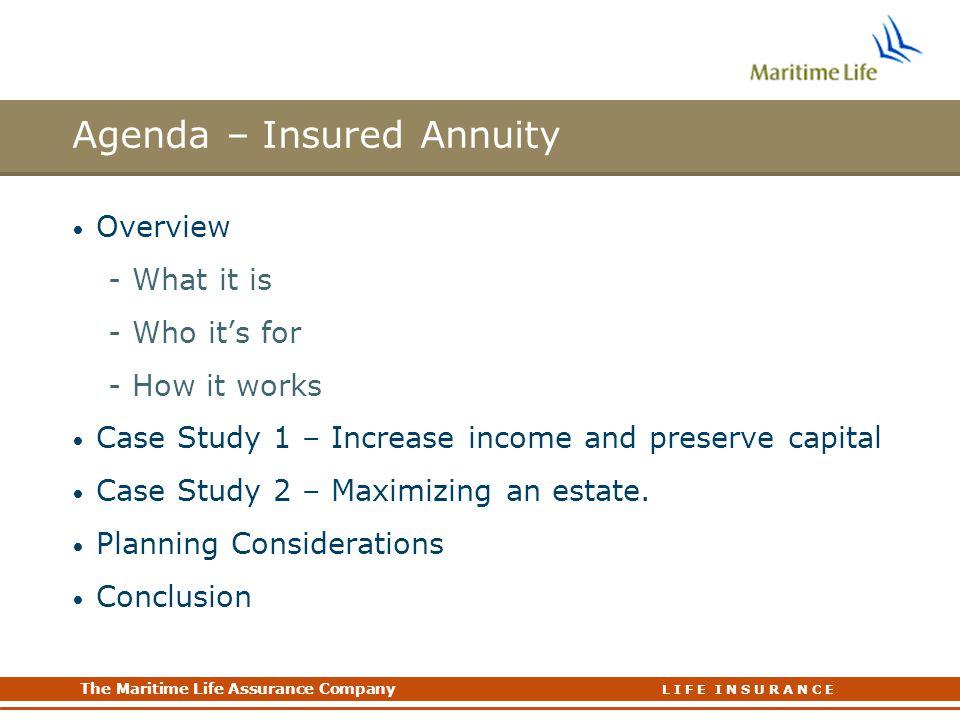 Agenda – Insured Annuity