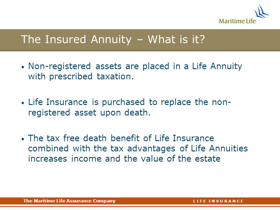 The Insured Annuity – What is it