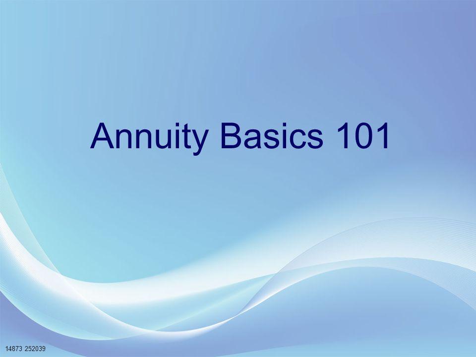 Annuity Basics 101