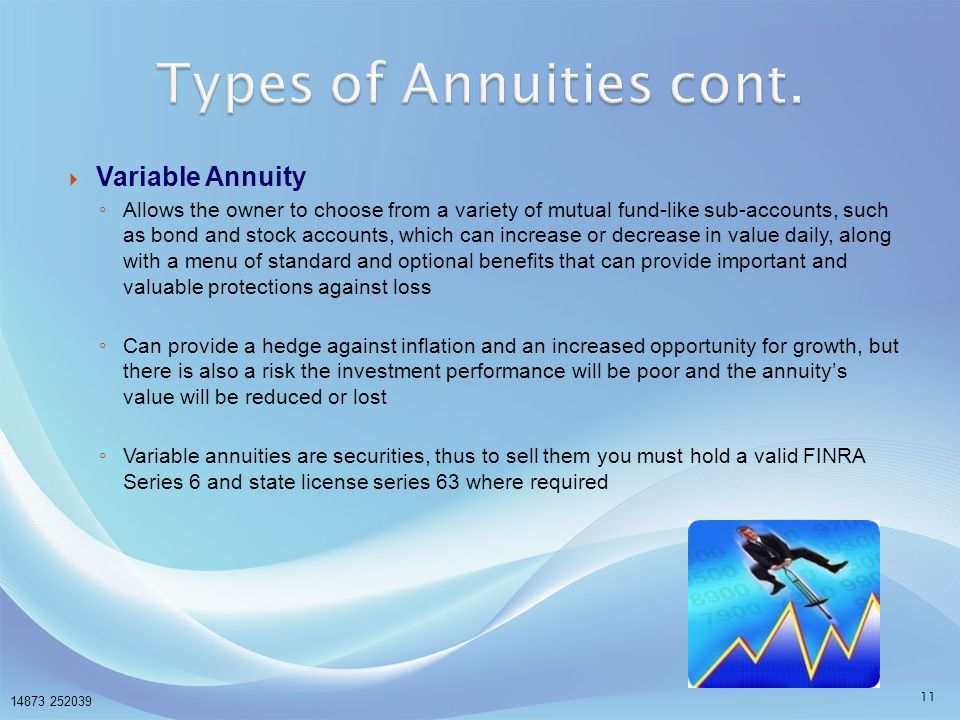 Types of Annuities cont.
