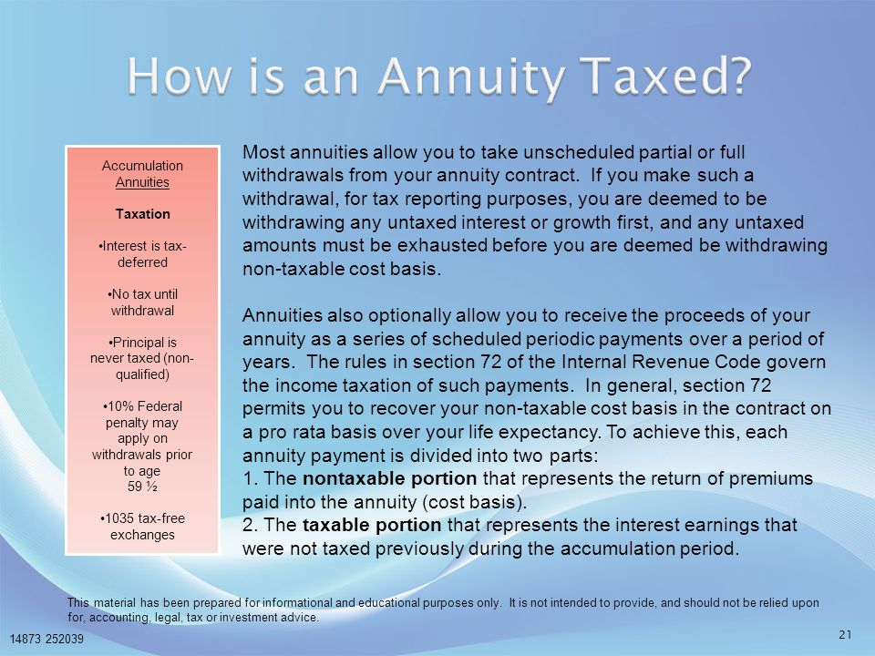 How is an Annuity Taxed