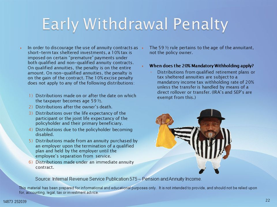 Early Withdrawal Penalty