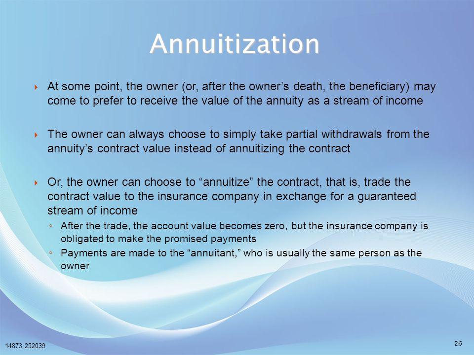 Annuitization