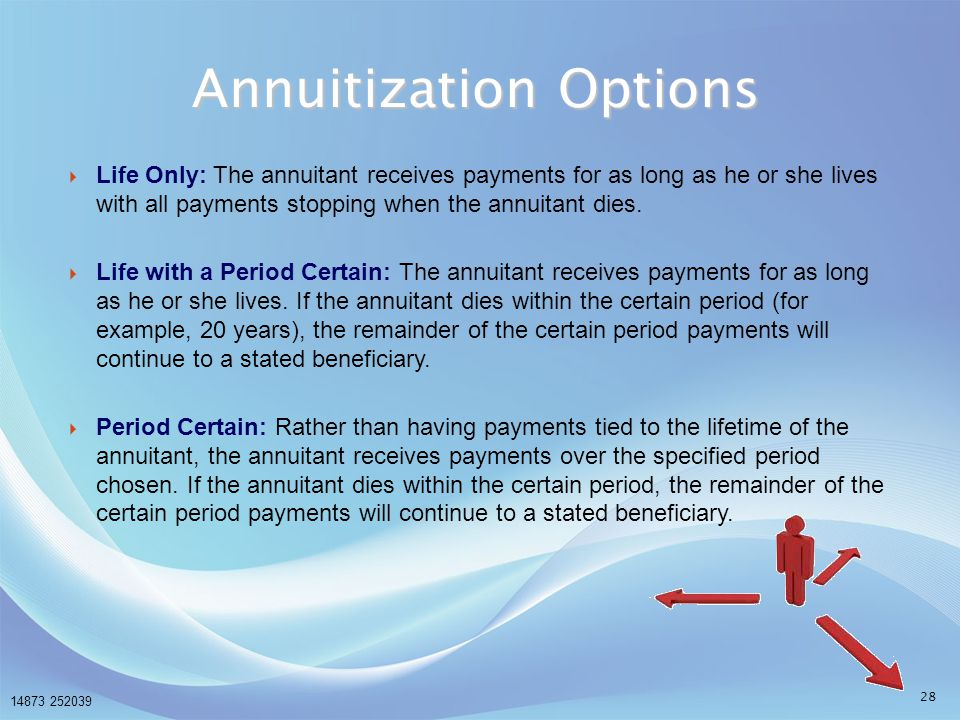 Annuitization Options