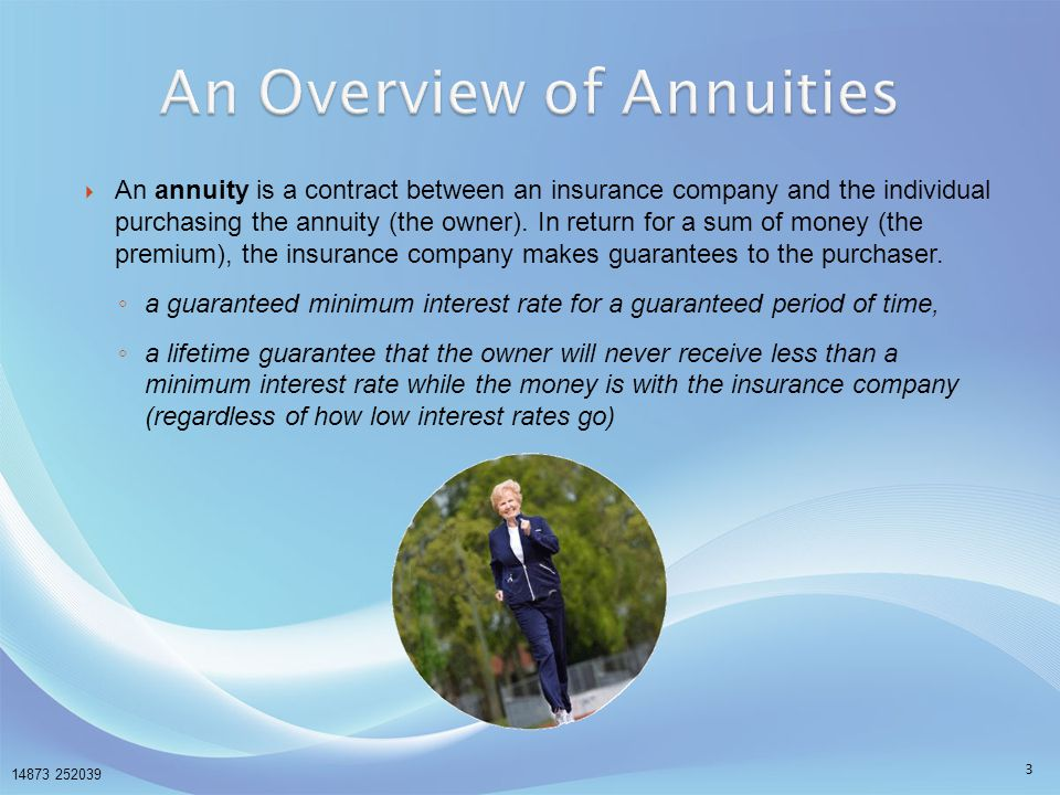An Overview of Annuities