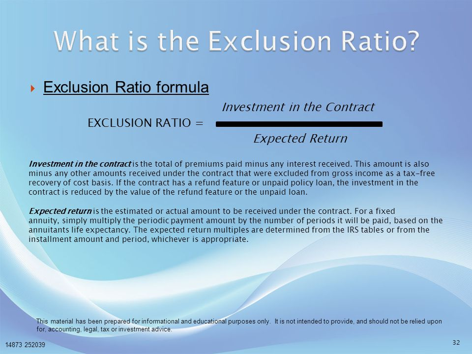 What is the Exclusion Ratio