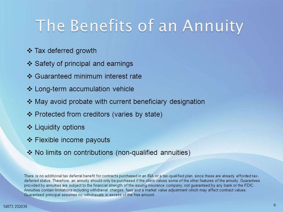 The Benefits of an Annuity