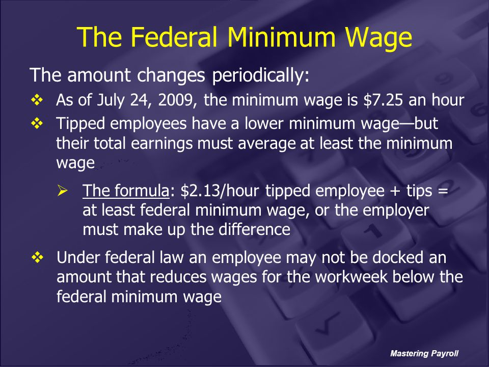 The Federal Minimum Wage