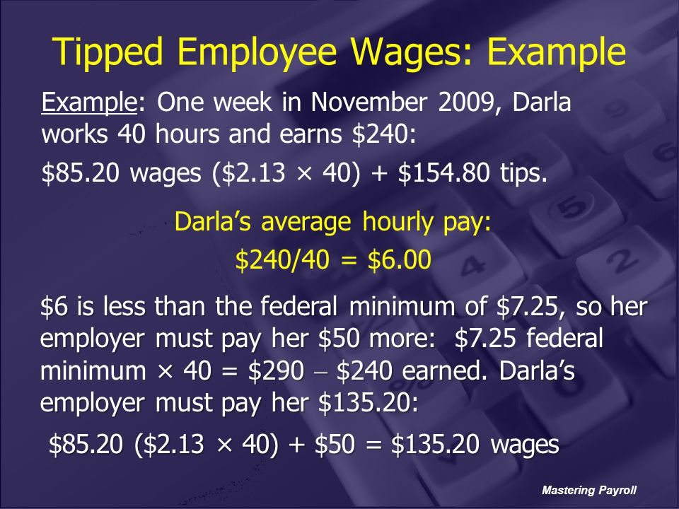 Tipped Employee Wages: Example