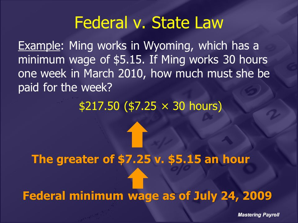 Federal v. State Law