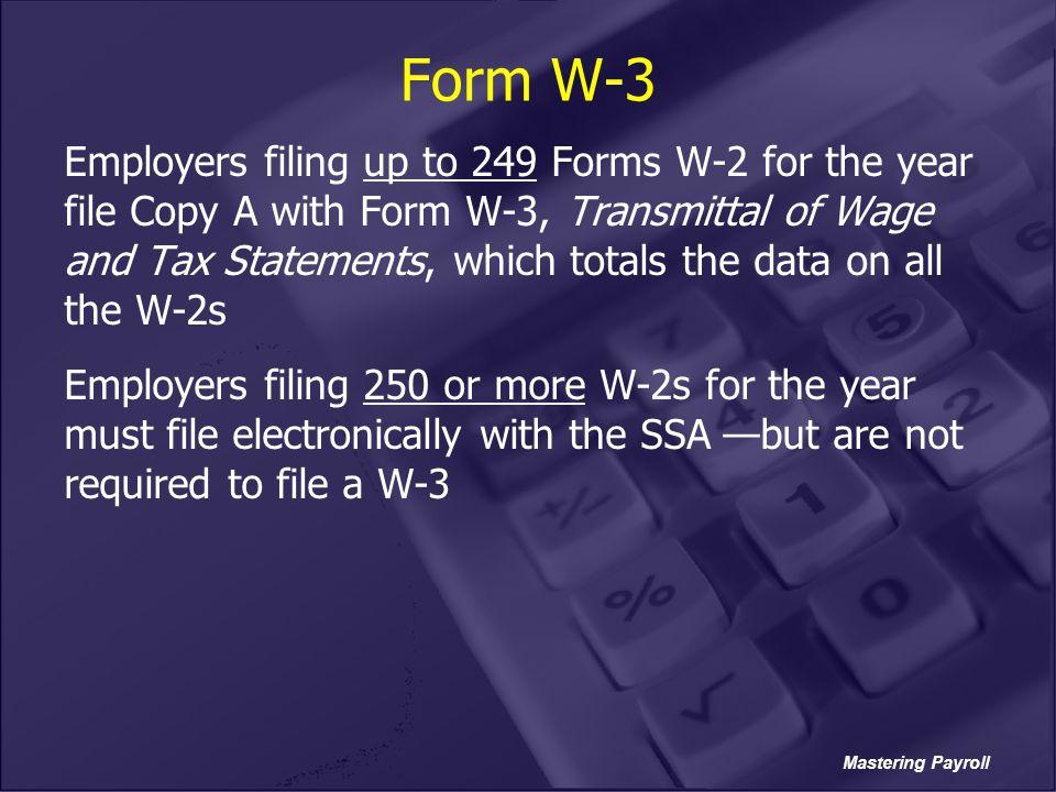 Form W-3