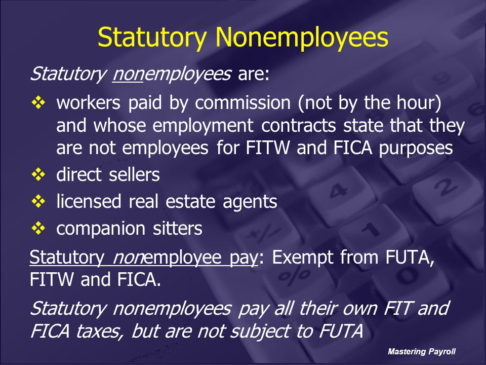 Statutory Nonemployees