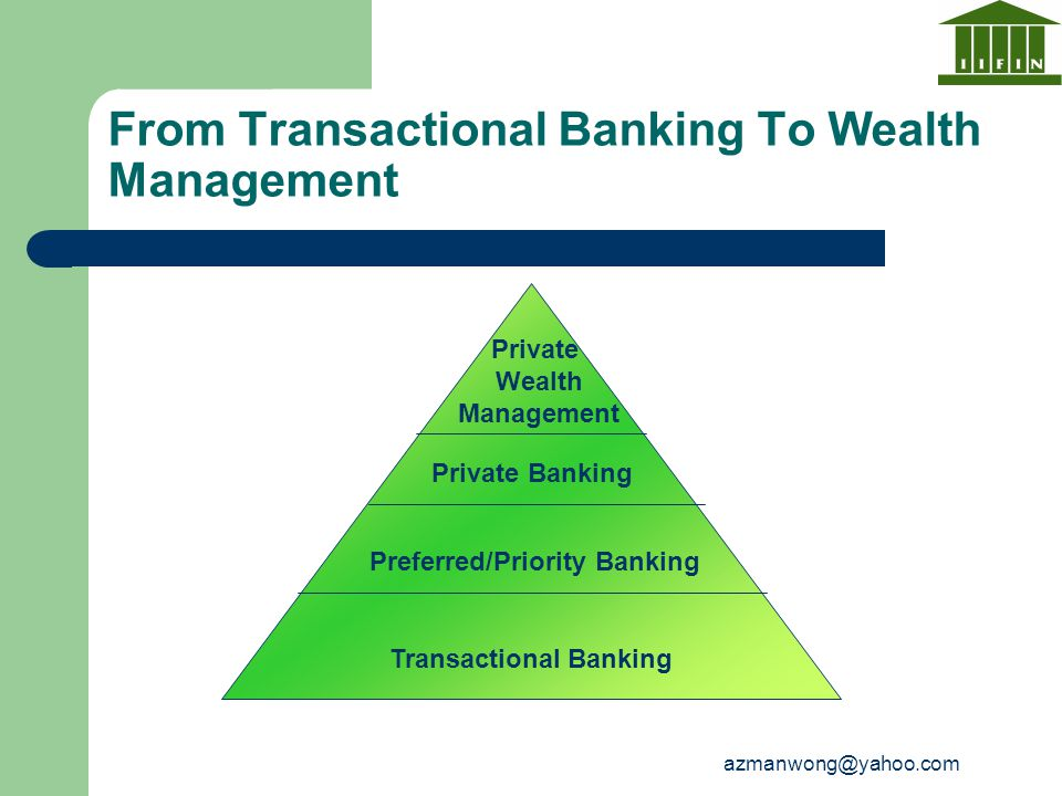 From Transactional Banking To Wealth Management
