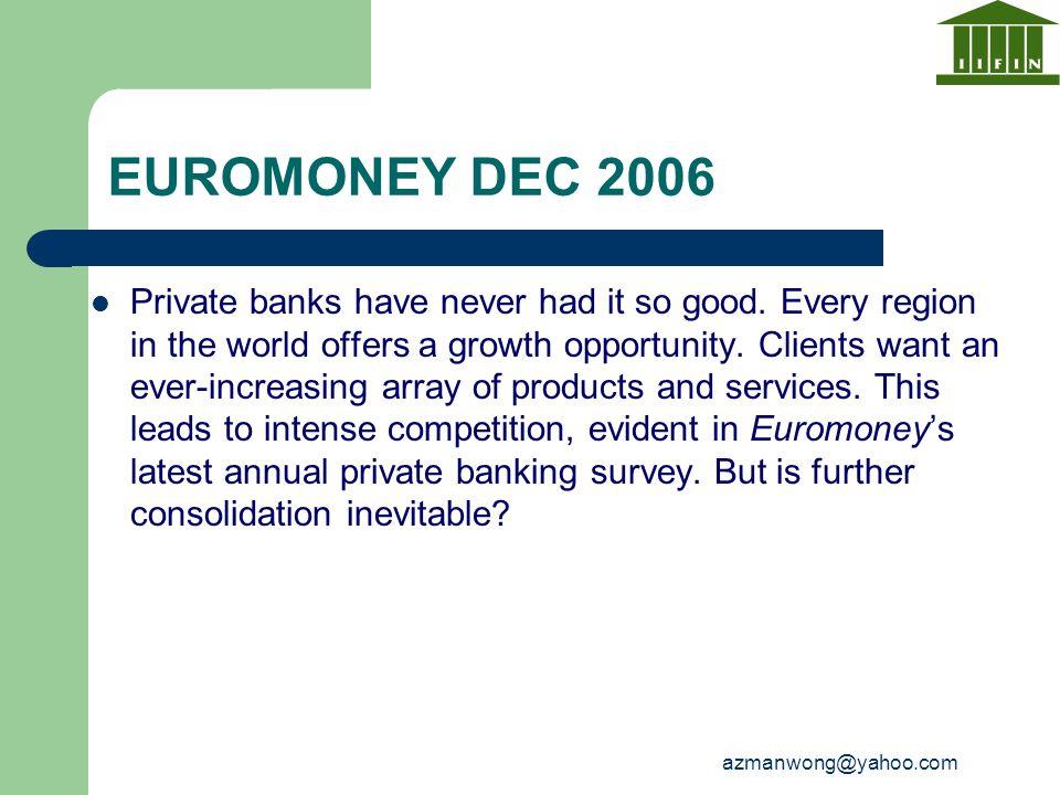 EUROMONEY DEC 2006