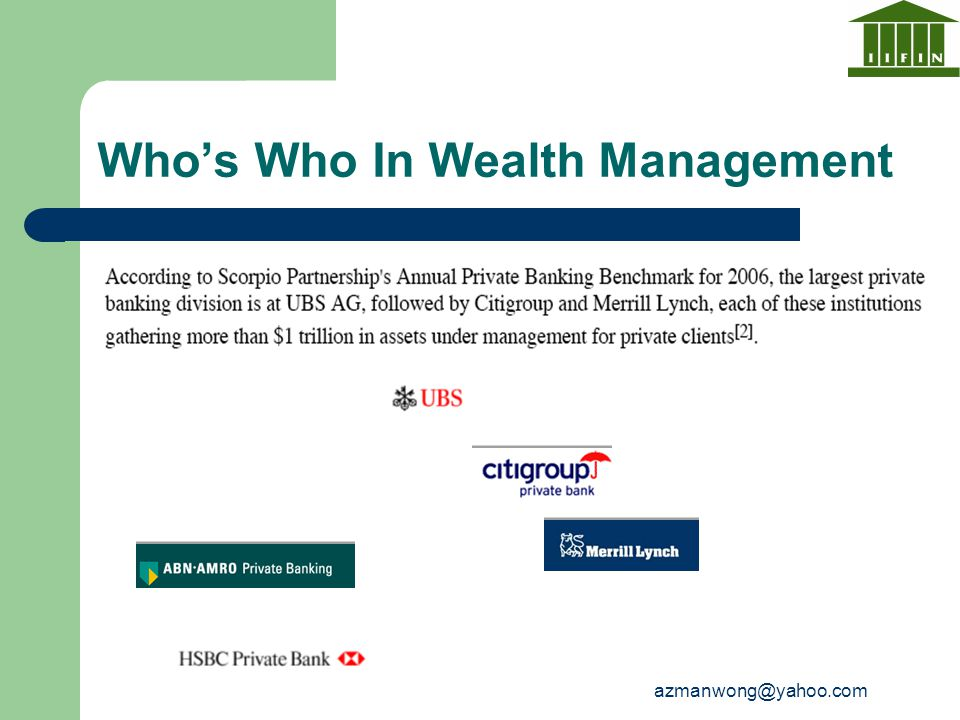 Who's Who In Wealth Management