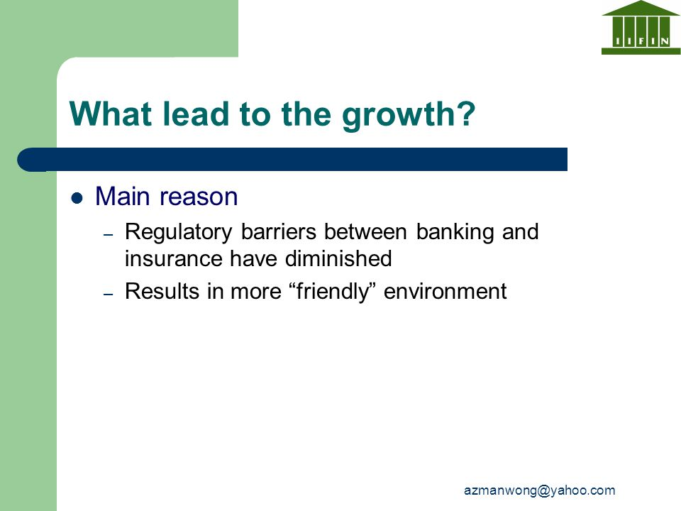 What lead to the growth Main reason