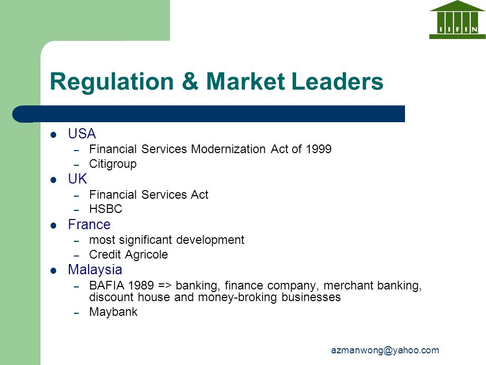 Regulation & Market Leaders