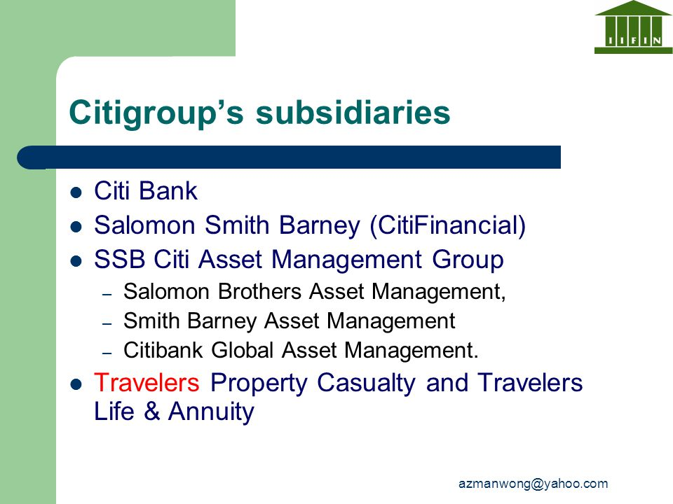 Citigroup's subsidiaries