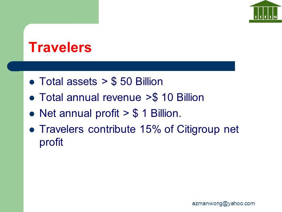 Travelers Total assets > $ 50 Billion