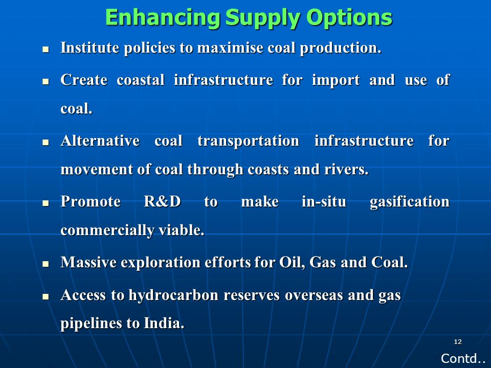 Enhancing Supply Options