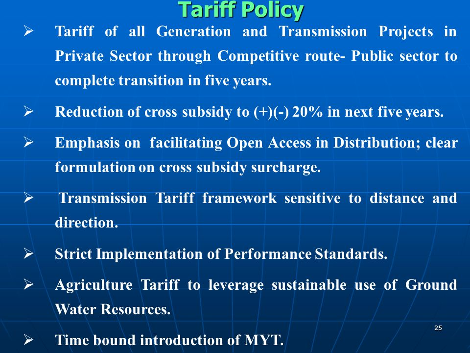 Tariff Policy