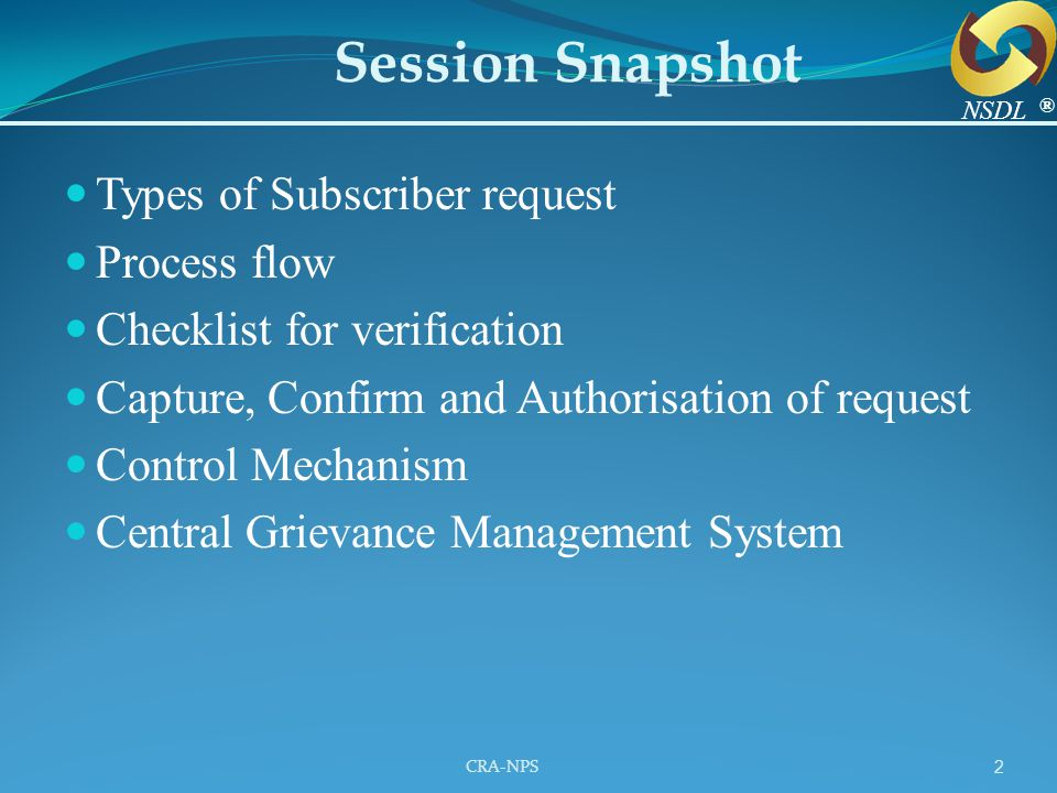 Session Snapshot Types of Subscriber request Process flow