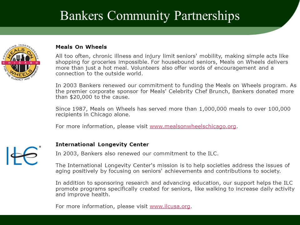 Bankers Community Partnerships