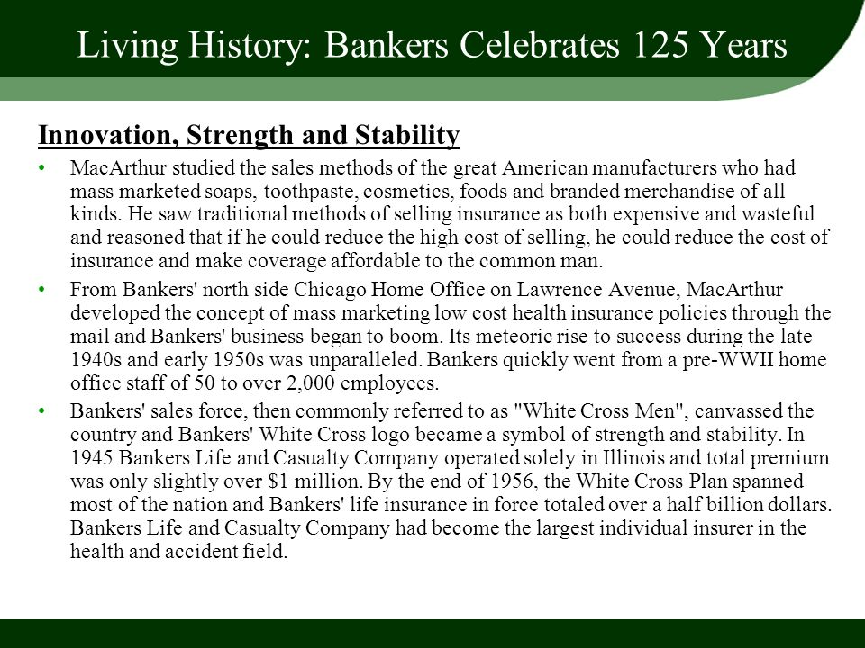 Living History: Bankers Celebrates 125 Years