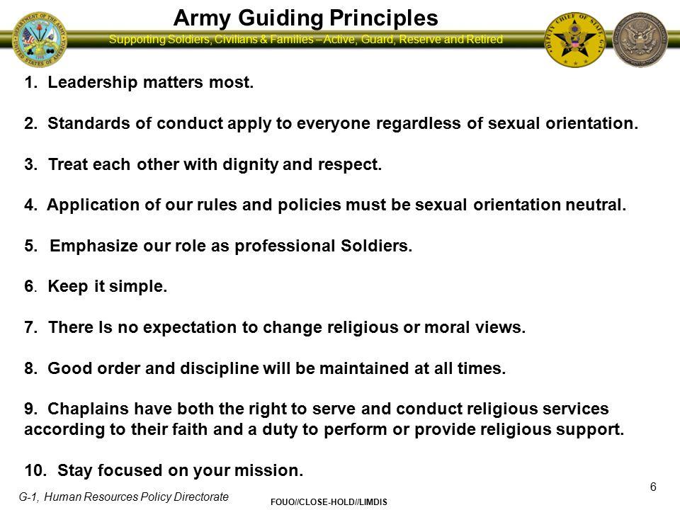 Army Guiding Principles