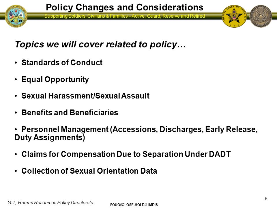 Policy Changes and Considerations