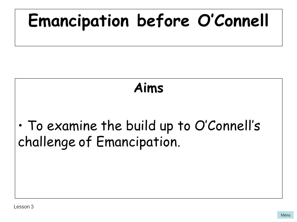 Emancipation before O'Connell