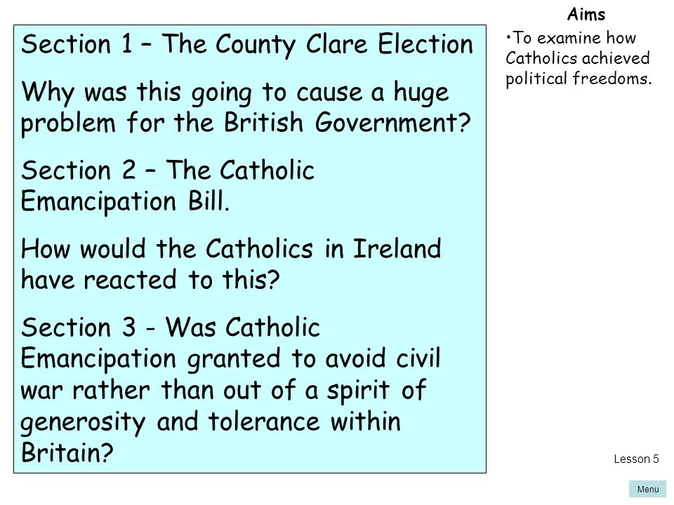Section 1 – The County Clare Election