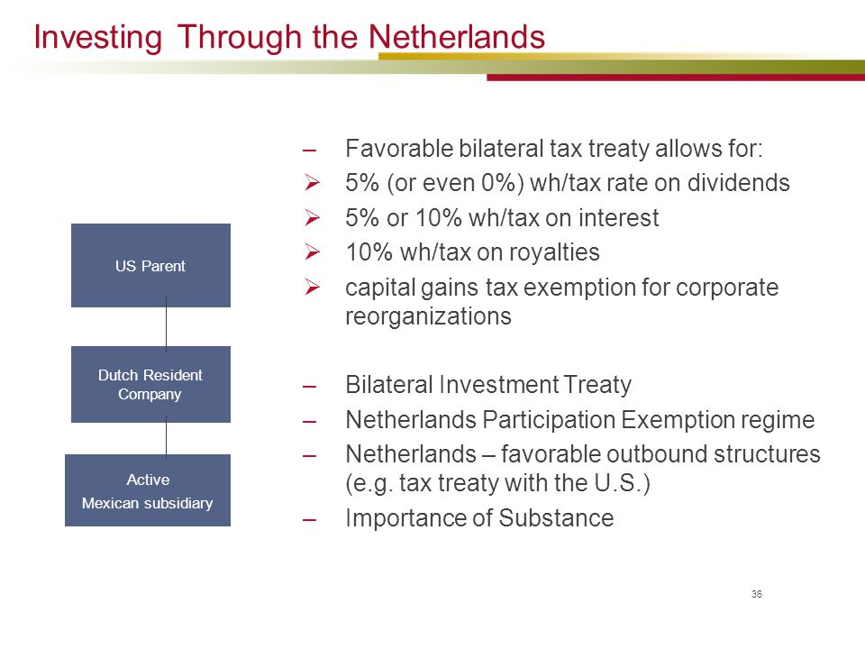 Investing Through the Netherlands