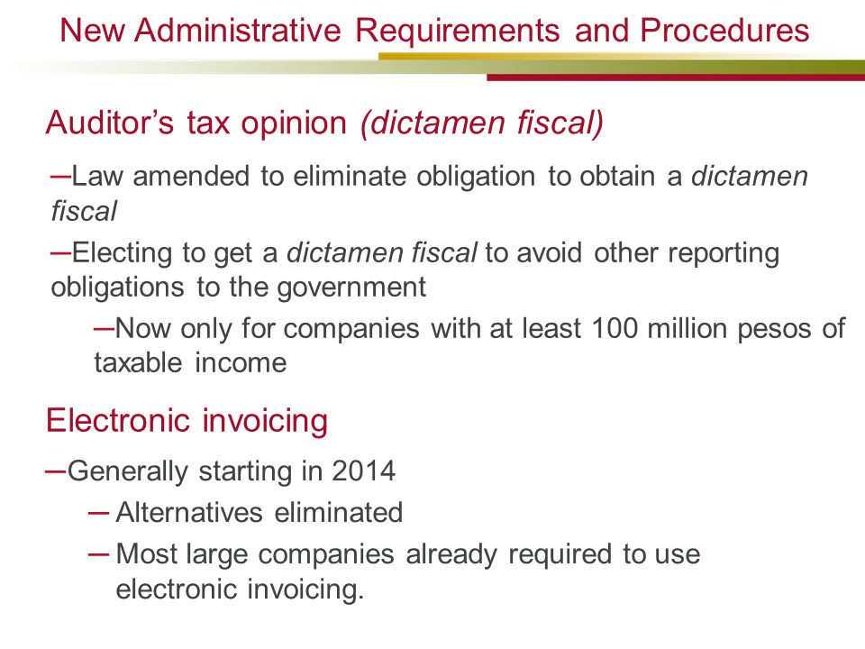 New Administrative Requirements and Procedures
