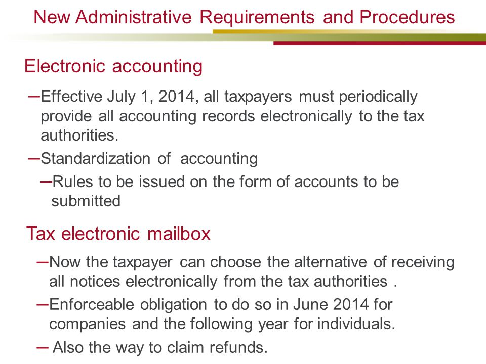 Electronic accounting
