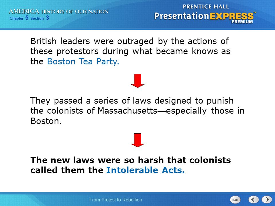 British leaders were outraged by the actions of these protestors during what became knows as the Boston Tea Party.