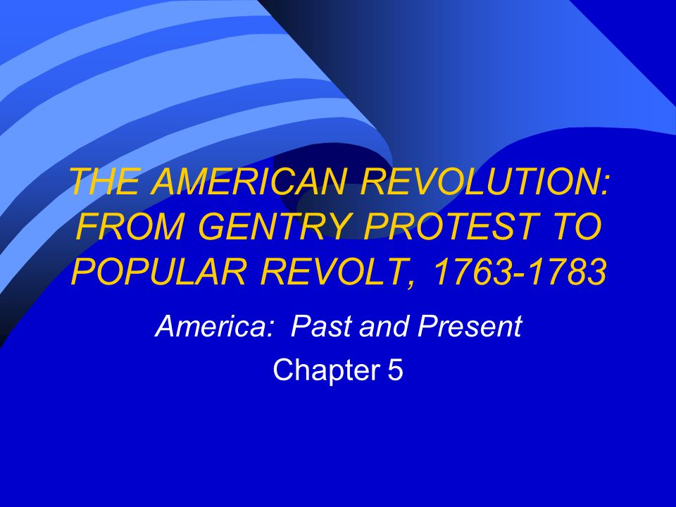 America: Past and Present Chapter 5