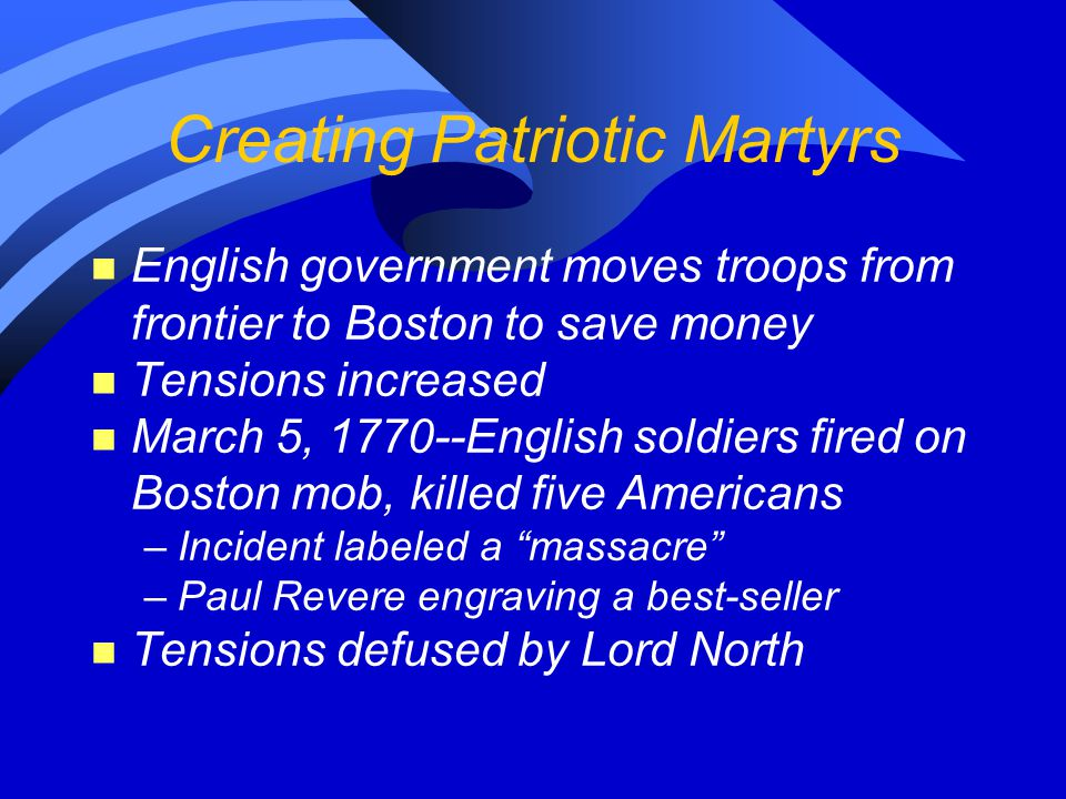 Creating Patriotic Martyrs