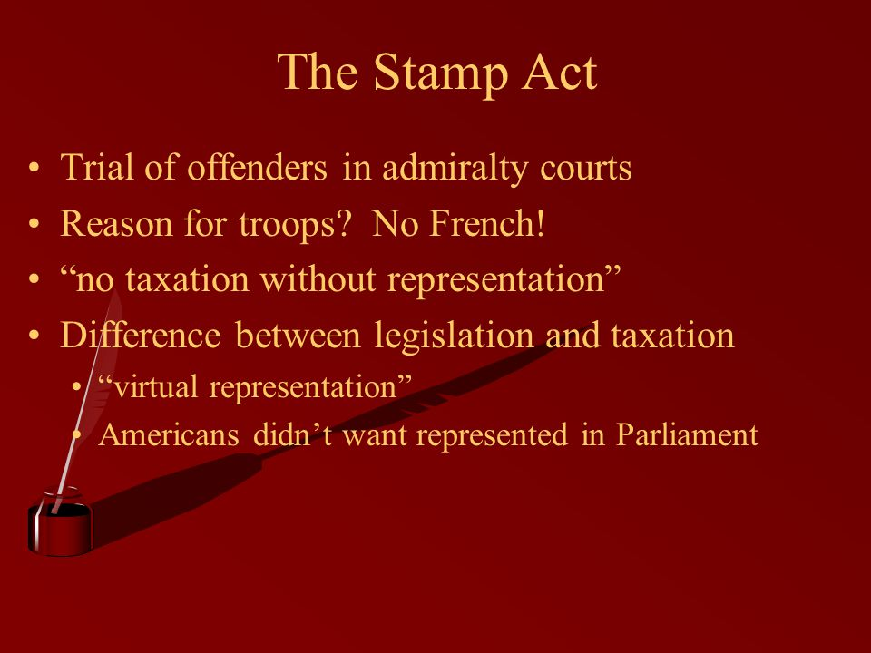 The Stamp Act Trial of offenders in admiralty courts