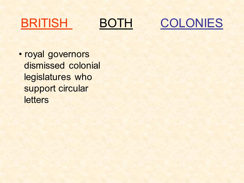 BRITISH BOTH COLONIES royal governors dismissed colonial