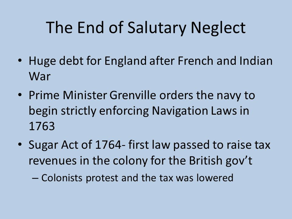 The End of Salutary Neglect