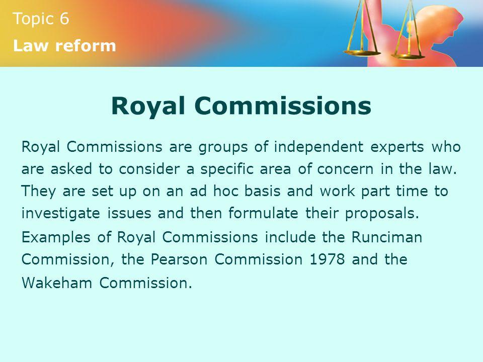 Royal Commissions