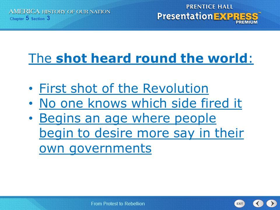 The shot heard round the world: