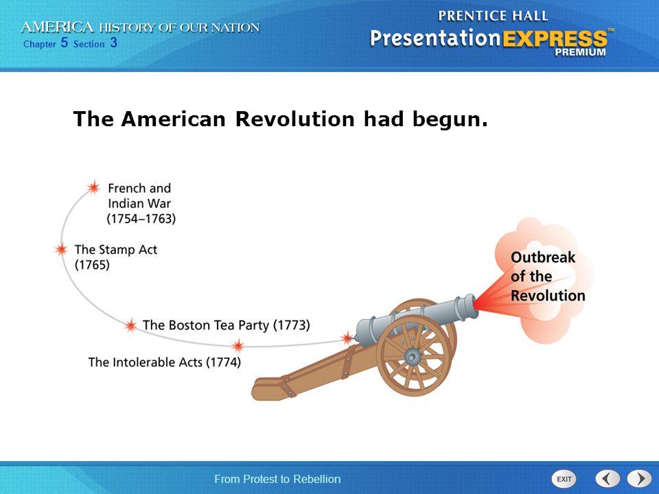 The American Revolution had begun.