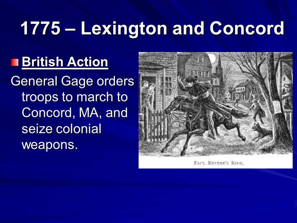 1775 – Lexington and Concord