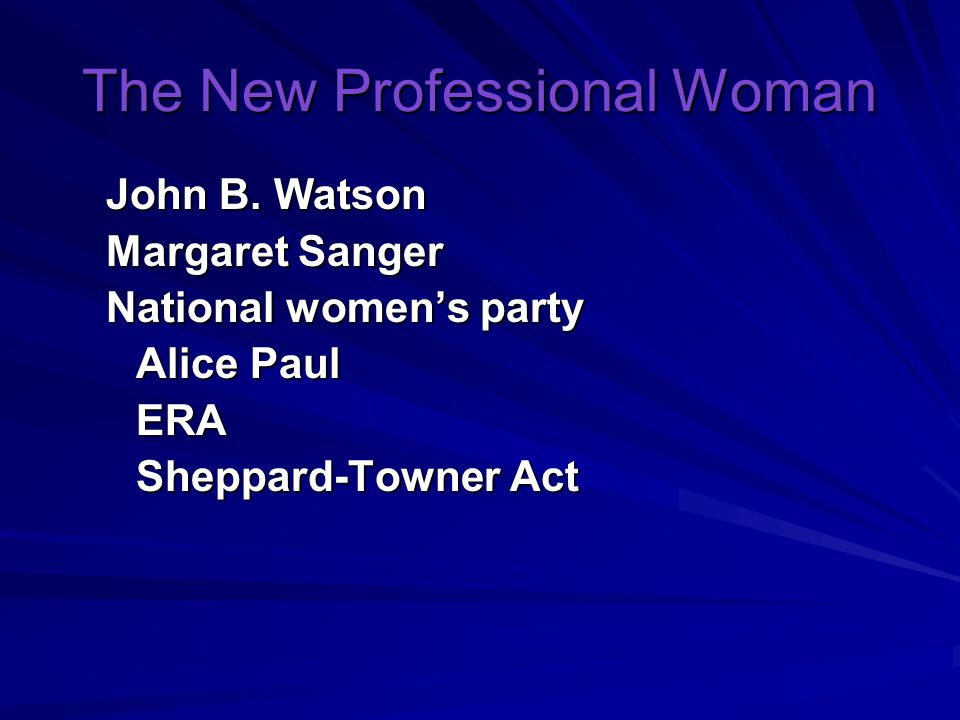 The New Professional Woman