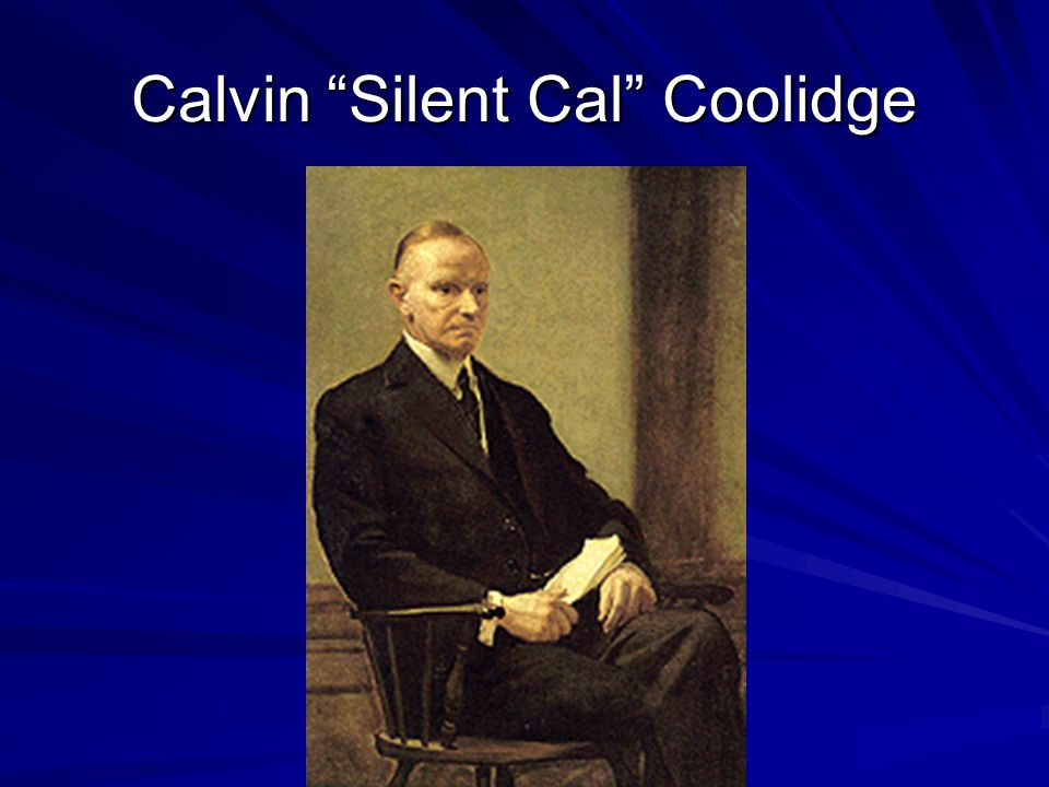 Calvin Silent Cal Coolidge