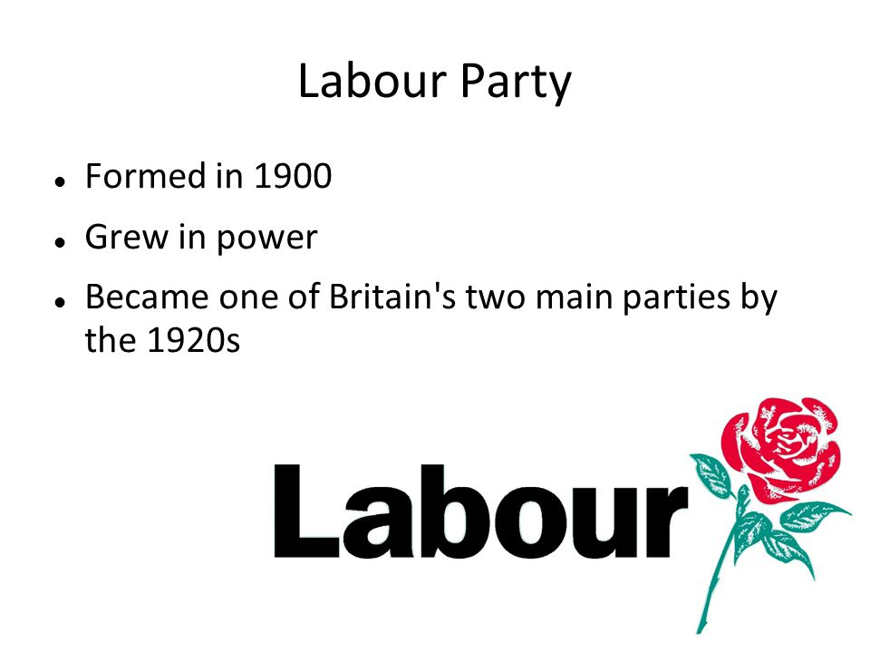 Labour Party Formed in 1900 Grew in power